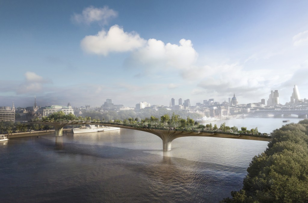 The Garden Bridge © Arup / Heatherwick Studios